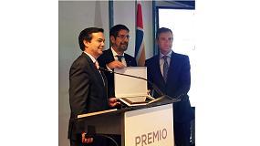 Foto de José Manuel Pinazo, presidente del Comité Técnico de Atecyr, recibe el premio Climatización y Refrigeración