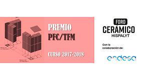 Foto de Hispalyt anuncia los ganadores del Premio PFC/TFM del Foro Cerámico Hispalyt curso 2017/2018