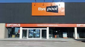 Foto de Ferretería Ebre Pool, el primer establecimiento de Optimus en Amposta (Tarragona)