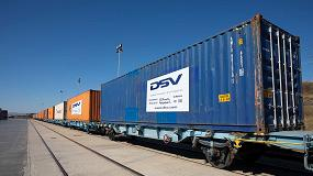 Foto de DSV hace realidad la conexión ferroviaria entre Zaragoza y China con la salida del primer tren de exportación