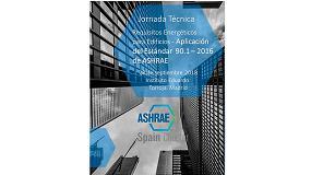 """Foto de Ashrae Spain Chapter organiza la jornada técnica """"Requisitos energéticos para edificios. Aplicación del Estándar 90.1 - 2016 de Ashrae"""""""
