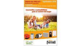 Foto de Ferroli lanza su nueva tarifa de precios septiembre 2018