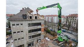 Foto de El manipulador Sennebogen 870 E realiza con éxito la demolición de un edificio en Múnich