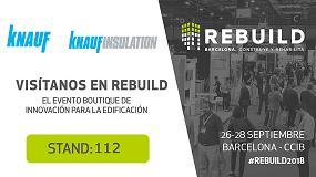 Foto de Grupo Knauf presentará en Rebuild soluciones únicas que revolucionarán el sector de la construcción
