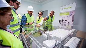 Foto de Pladur recibe en su nueva fábrica de Gelsa la visita del consejero Territorial de Aragón como paso previo a la próxima inauguración