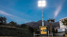 Foto de Atlas Copco presenta una torre de iluminación LED ultra silenciosa diseñada para ser vista y no oída