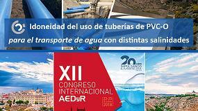 Foto de Molecor estará presente en el XII Congreso Internacional de AEDyR