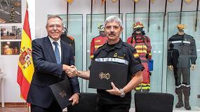 Foto de Feique y el Ministerio de Defensa firman un acuerdo para cooperar en la atención a emergencias químicas