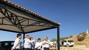 Foto de Directivos de Kubota visitan el olivar donde nacen los aceites Castillo de Canena