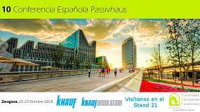 Foto de Grupo Knauf estará presente en la 10ª Conferencia Passivhaus con soluciones innovadoras de ahorro energético y confort acústico