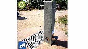 Foto de Santa Maria de Palautorderà, Barcelona, instala fuentes de Martín Mena elaboradas con plástico reciclado