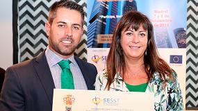 Foto de Fraternidad-Muprespa recibe el premio a la comunicación en el III Congreso Nacional de Salud Laboral y Seguridad en el Trabajo