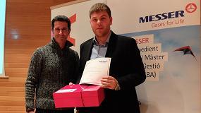Foto de Un estudiante de MBA de la Universitat Rovira i Virgili recibe el Premio Messer