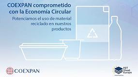 Foto de Coexpan se suma al compromiso de aumentar el contenido reciclado de sus productos de PET hasta el 70% para 2025.