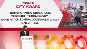 Foto de Singapur, designada Ciudad Inteligente de 2018 en el SCEWC