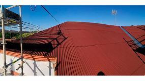 Foto de 11.000 m2 de cubiertas rehabilitadas e impermeabilizadas con el Sistema Onduline Bajo Teja DRS en Alcalá de Henares