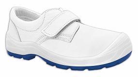 Foto de Diamante Velcro Totale S2 Blanco 269 de Panter, el calzado antibacteriano para el sector cárnico y alimentario