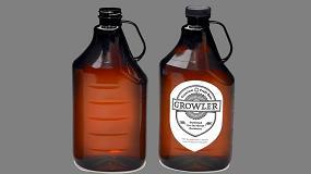 Foto de Una botella PET SureHandle, alternativa al vidrio para los productores de cerveza