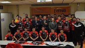 Foto de Ferroli, patrocinador oficial del Club balonmano Burgos