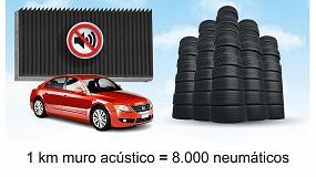 Foto de ¿Sabías que se utilizan neumáticos usados para fabricar muros aislantes acústicos de carretera?