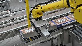 Foto de Paletizado automatizado Fanuc en la producción de mermeladas y conservas