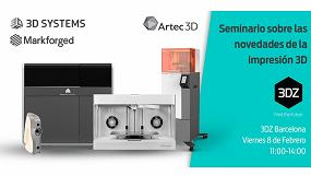Foto de 3DZ organiza un seminario gratuito sobre las novedades de la impresión 3D en 2019