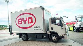 Foto de BYD Forklift presenta por primera vez en españa sus camiones eléctricos