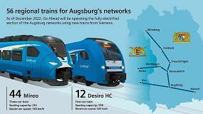 Foto de Siemens Mobility suministrará 56 trenes regionales para la red ferroviaria de Augsburgo