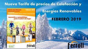 Foto de Ferroli lanza su nueva tarifa de precios de calefacción y energías renovables