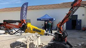 Foto de Husqvarna muestra las habilidades de sus robots de demolición DXR 140 y DXR 300