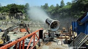 Foto de SprayStream mitiga el polvo en plantas de reciclaje, minas o en tareas de demolición