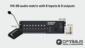 Foto de Optimus presenta su matriz de audio MX-88 con 8 entradas y 8 salidas