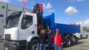 Foto de Palfinger Ibérica hace entrega en Huelva de una grúa PK 18002 EH y de un polibrazo T13