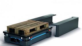Foto de MiR en Advanced Factories con MiR 500 para palés, construyendo la Logística 4.0