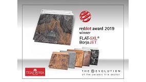 Foto de Tejas Borja recibe el Red Dot Award 2019 de diseño de producto con la teja Flat-5XL BorjaJET