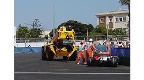 Fotografia de JCB responsable de la retirada dels monoplaces al GP d'Europa a València