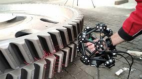 Foto de Medición de piezas de fundición con el escáner MetraSCAN 3D