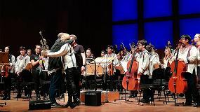 Foto de 'Operación Abrazo del Corazón Americano' toca por primera vez en España de la mano de la Orquesta de la 'Música del reciclaje'