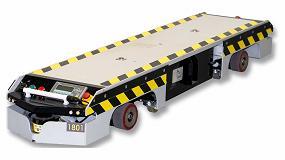 Foto de AGVs de Tatoma en logística de producción del sector automoción