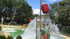 Foto de Isaba presenta un parque de agua sin profundidad de Moralzarzal (Madrid)