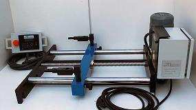 Foto de Metalmaq desarrolla un nuevo tope trasero eléctrico RPS-500/motor para plegadora