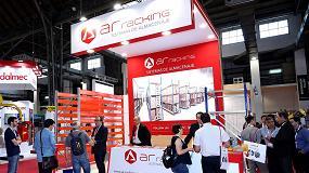 Foto de AR Racking muestra su capacidad para la ejecución de grandes proyectos de almacenaje en Expologística Colombia
