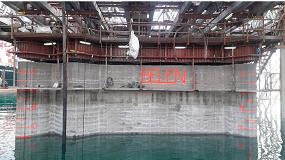 Foto de Fabricación de cajones flotantes en el Dique Sur Puerto Barcelona
