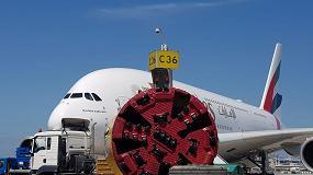 Foto de Aviones despegando por arriba mientras por debajo se construyen túneles