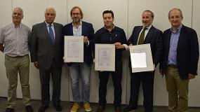 Foto de Calordom, Gebio y Erbi, las tres primeras empresas que obtienen el sello de calidad 'Instalador de Biomasa Certificado' (IBC) de Avebiom