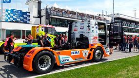 Foto de Case Construction Equipment patrocina al equipo Schwabentruck en el Campeonato de Europa de Carreras de Camiones de 2019
