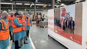 Foto de La ministra de Industria, Comercio y Turismo visita los centros productivos de DS Smith en Palencia