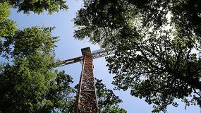 Foto de Una grúa torre Liebherr facilita la ejecución de un importante proyecto climático en Suiza