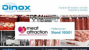 Foto de Dinox muestra sus equipos de lavado en Meat Attraction