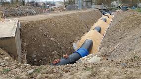 Foto de Saint-Gobain PAM participa en la renovación de las redes de agua potable y saneamiento en el barrio Lakua-Arriaga